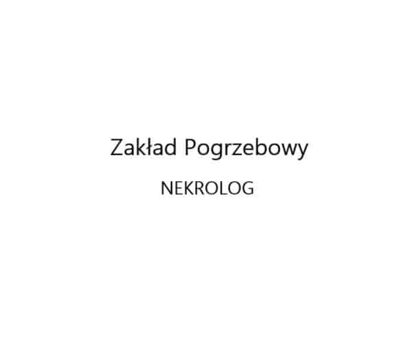Logo Zakład Pogrzebowy Nekrolog Łódź