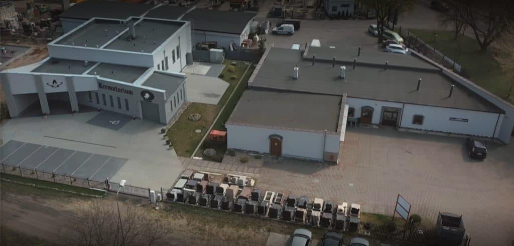 Krematorium Zakładu Pogrzebowego Ku Słońcu ( zdjęcie z lotu ptaka )