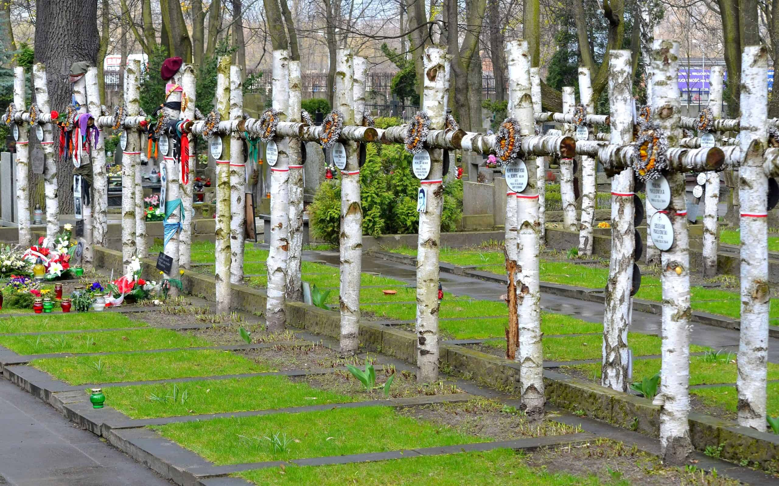 Kwatera Batalionu Zośka Cmentarz Wojskowy naPowązkach