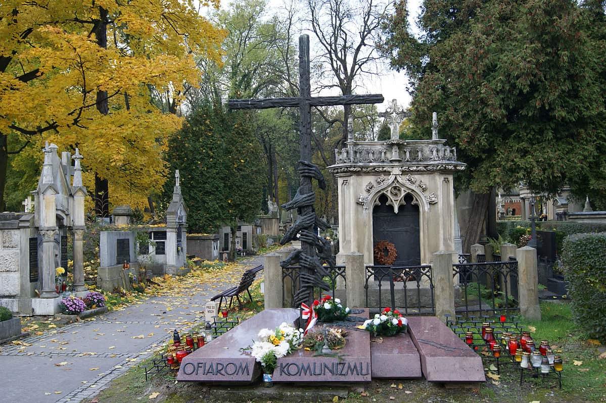 Pomnik ku pamięci ofiar komunizmu cmentarz rakowicki kraków