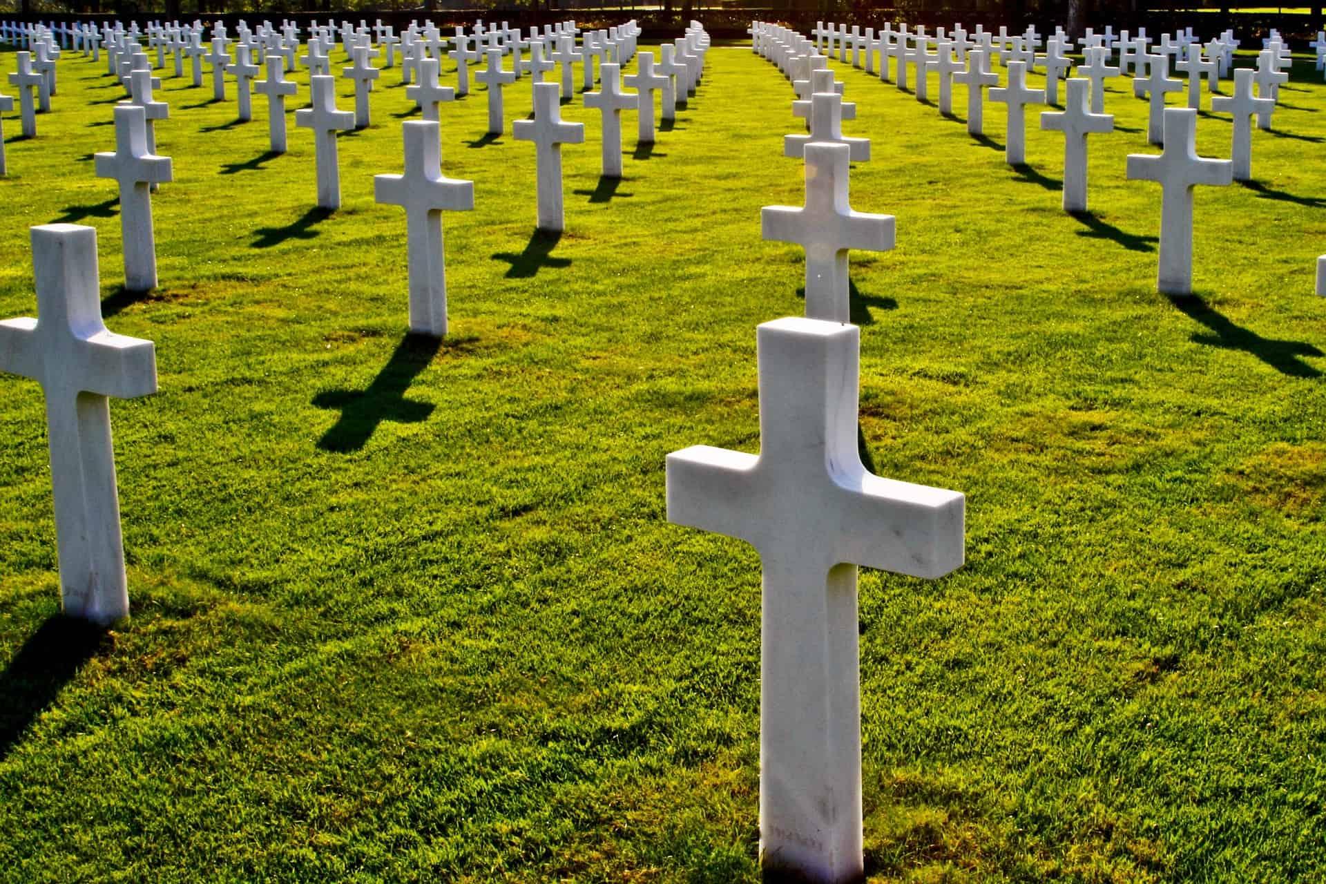 Zagraniczny minimalistyczny cmentarz