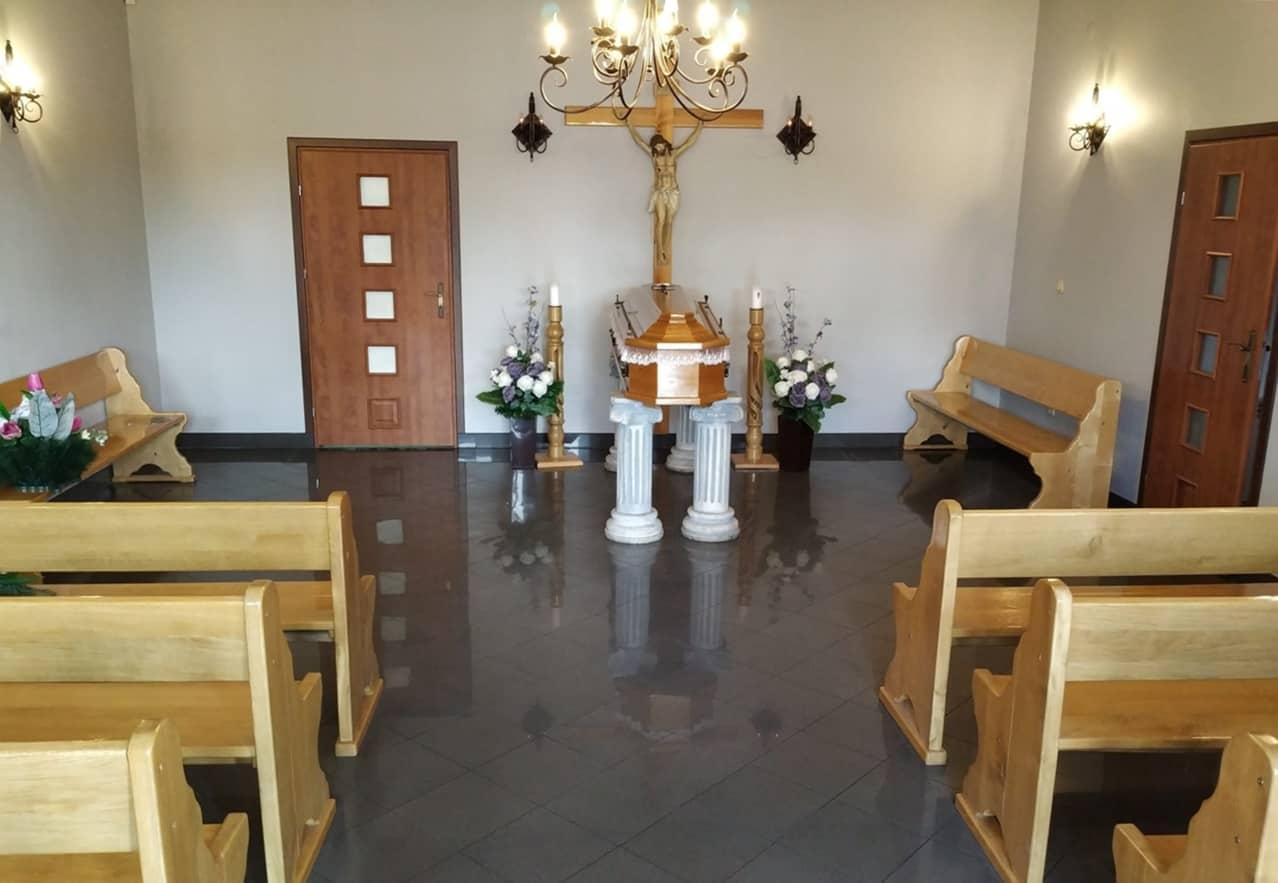 kaplica pożegnań w zakładzie pogrzebowym jakub syta